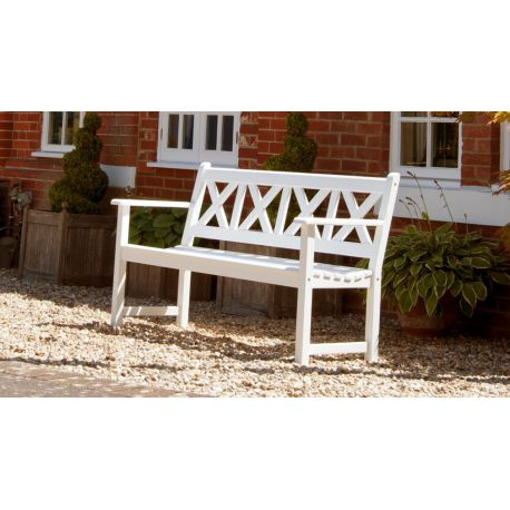 New England White Painted Drachmann Bench 5ft