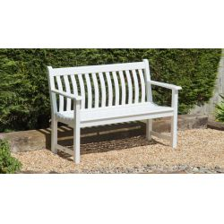 New England White Painted Broadfield Bench 4ft
