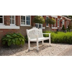 New England White Painted Turnberry Bench 5ft