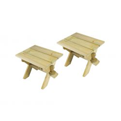 Pine Stools (2 Pack)