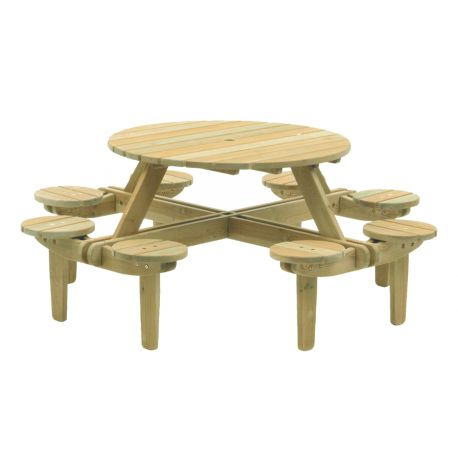 Pine Gleneagles Table 8 Seater 1.1m