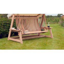 Roble Swing Seat (Green, Ecru)