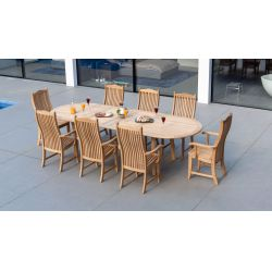 Roble Double Ext. Table 1.10×2.0/2.9m