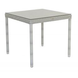 Classic Square Table w/ Glass 0.8m x 0.8m