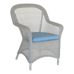 Classic Open Weave Armchair w/ Cushion