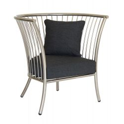 Cordial Lounge Chair Stainless Steel