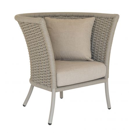 Cordial Lounge Chair Square Top w/ Beige Rope