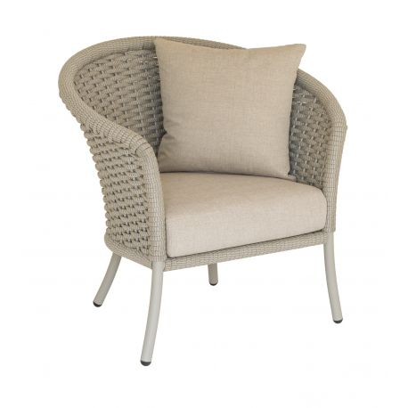 Cordial Lounge Chair Curved Top w/ Beige Rope