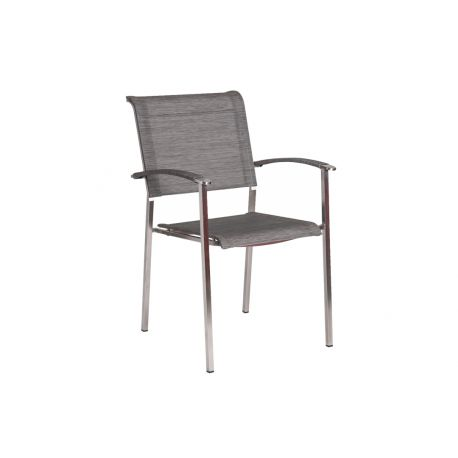 Col. Stacking Armchair Mist Sling Square Legs