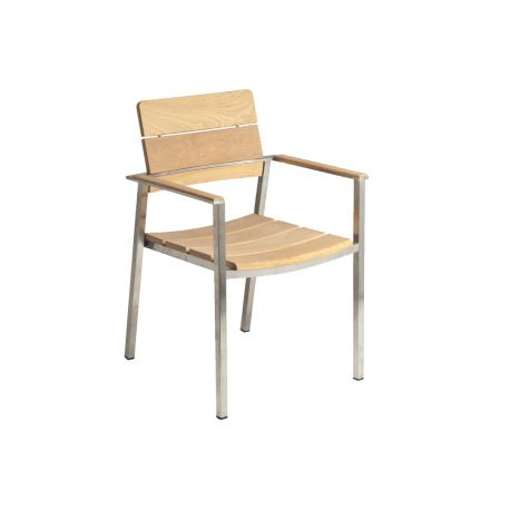 Col. Stacking Armchair Roble