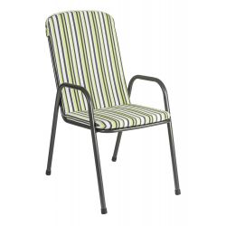 Portofino High Back Armchair Cushion Green Stripe