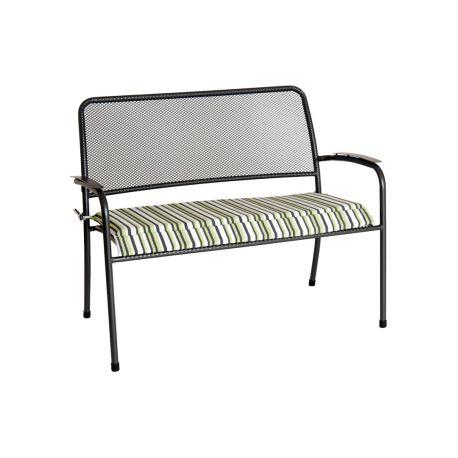 Portofino Bench Cushion Lime Stripe