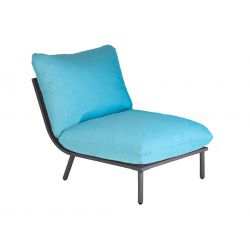 Chair Beach Lounge Flint Mid Turquoise Cushion