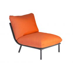 Chair Beach Lounge Flint Mid Orange Cushion