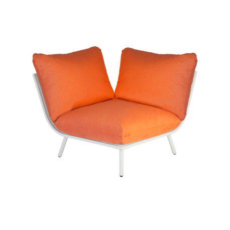 Beach Lounge Shell Corner Orange Cushion