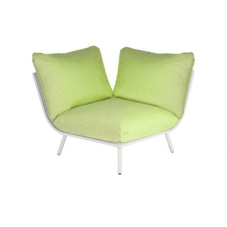 Beach Lounge Shell Corner Lime Cushion