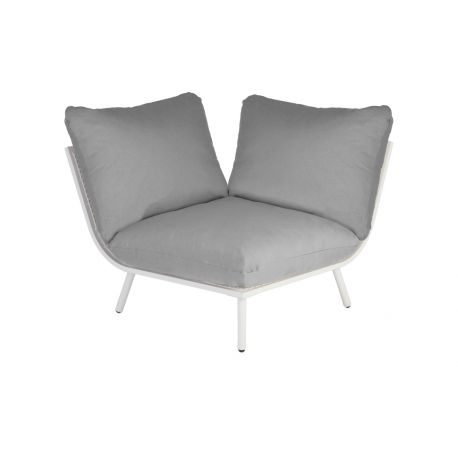 Beach Lounge Shell Corner Grey Cushion