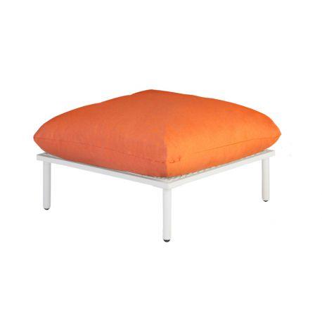 Beach Lounge Shell Footstool Orange Cushion