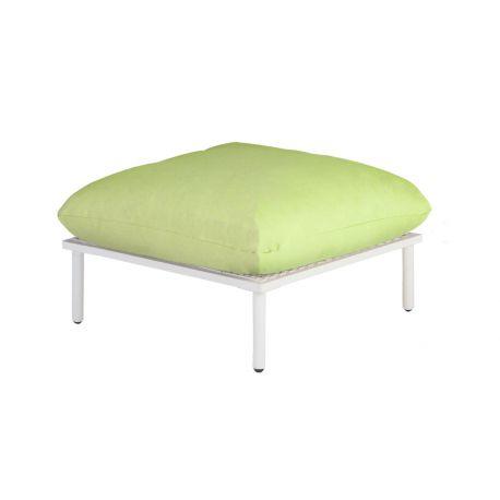 Beach Lounge Shell Footstool Lime Cushion