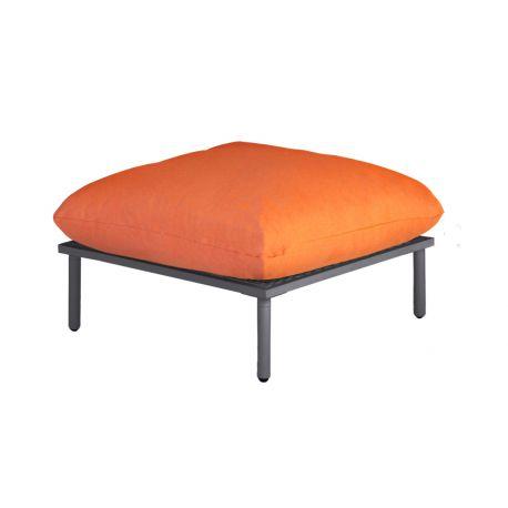 Beach Lounge Flint Footstool Orange Cushion