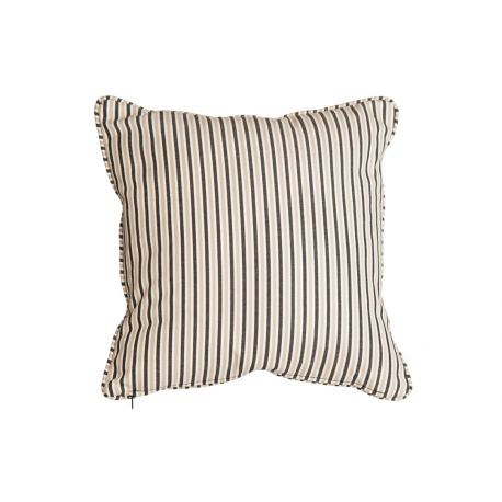 Polyester Scatter Cushion Charcoal Stripe