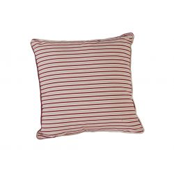 Polyester Scatter Cushion Berry Stripe
