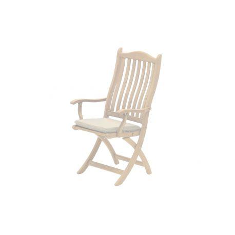 Polyester Seat Pad Ecru