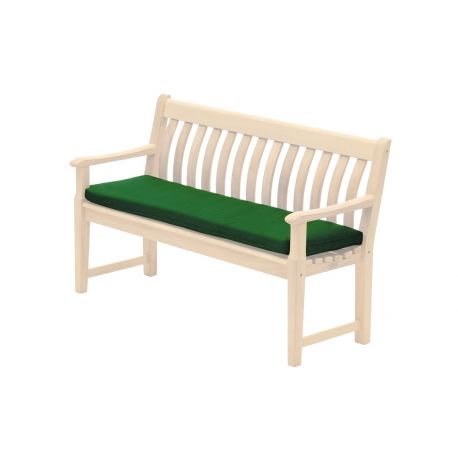 Polyester Bench Cushion Green 4ft