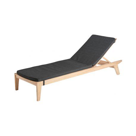 Sunbed Cushion Charcoal 154
