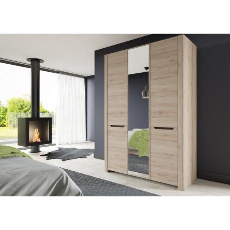 Collection Desjo 3 door wardrobe with mirror, (optional lighting)