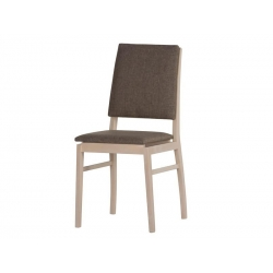 Collection Desjo upholstered chair with faux leather - brown