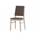 Kolekcja Desjo krzesło tapicerowane w tkaninie typu ekoskóra brąz