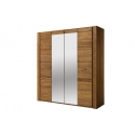VELVET 77 4 door wardrobe with mirror