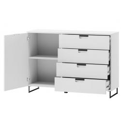 Megan 02 Komoda 1-drzwiowa 4-szuflady