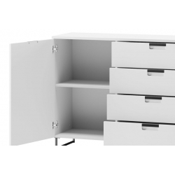 Megan 02 One door chest of 4 drawers