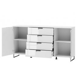 Megan 04 Two door chest of 4 drawers