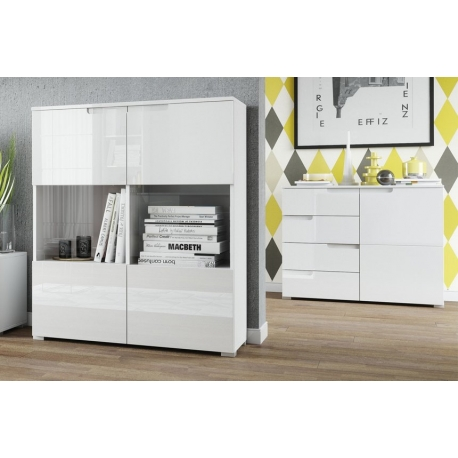 Selene 5 One-door 4 drawer sideboard