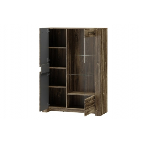 Belveder 15 Witryna 2-drzwiowa (niska, oświetlenie: elementu ozodbnego