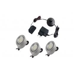 zestaw oświetleniowy podwieńcowy (3x oczko LED, 1x transform
