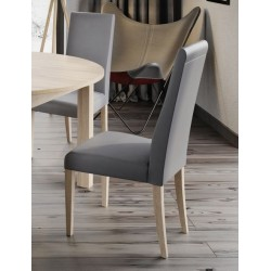 Collection Mars  upholstered chair with faux leather - cayenne 1118 dk grey, colour sonoma oak