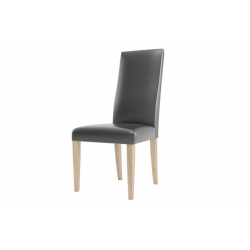 KAMA 101 upholstered chair with faux leather - cayenne 1114 black