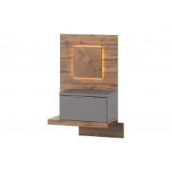 Livorno 68 1 drawer bedside table (lighting included)