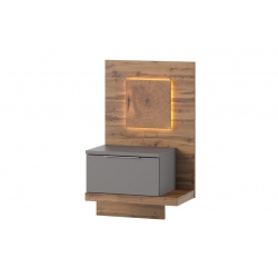 Livorno 69 One drawer bedside table (lighting included)