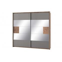 Livorno 73 szafa 2 drzwiowa, drzwi przesuwne, lustro 215x210x60 cm