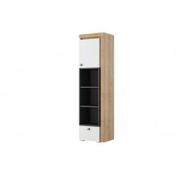 Riva 03 Regał 1-drzwiowy z szufladą