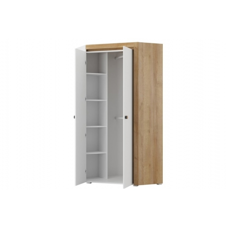 Riva 11 2 door corner wardrobe lighting in standard