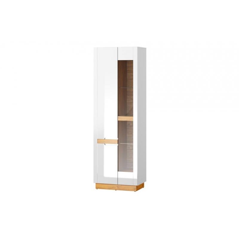 Visio 10 Two-door display unit optional lighting