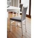 Kolekcja  Saturn krzesło tapicerowane w tkaninie typu sawana 05, kolor biały mat