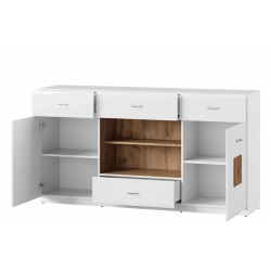 WOOD 46 Two door sideboard with 4 drawers