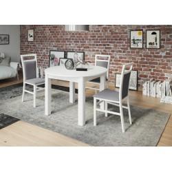 Collection Uran  extendable table colour white matt